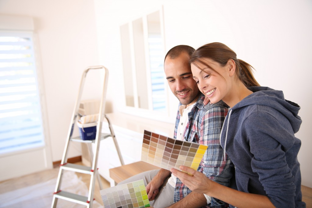 couple renovating house