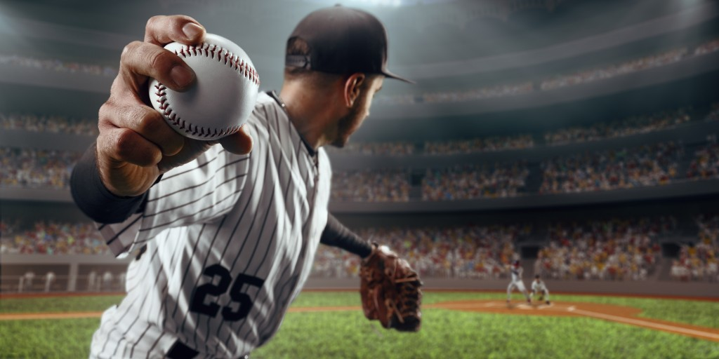 baseball player about to throw the ball