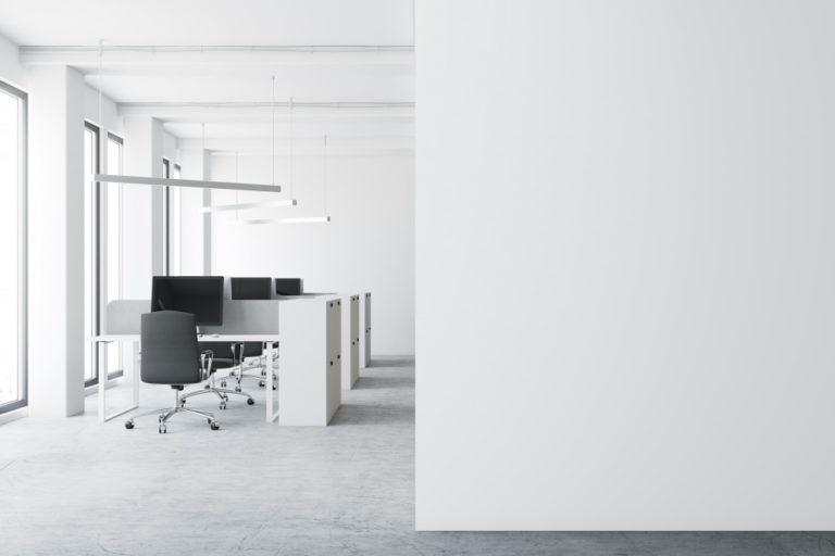 minimalistic working space