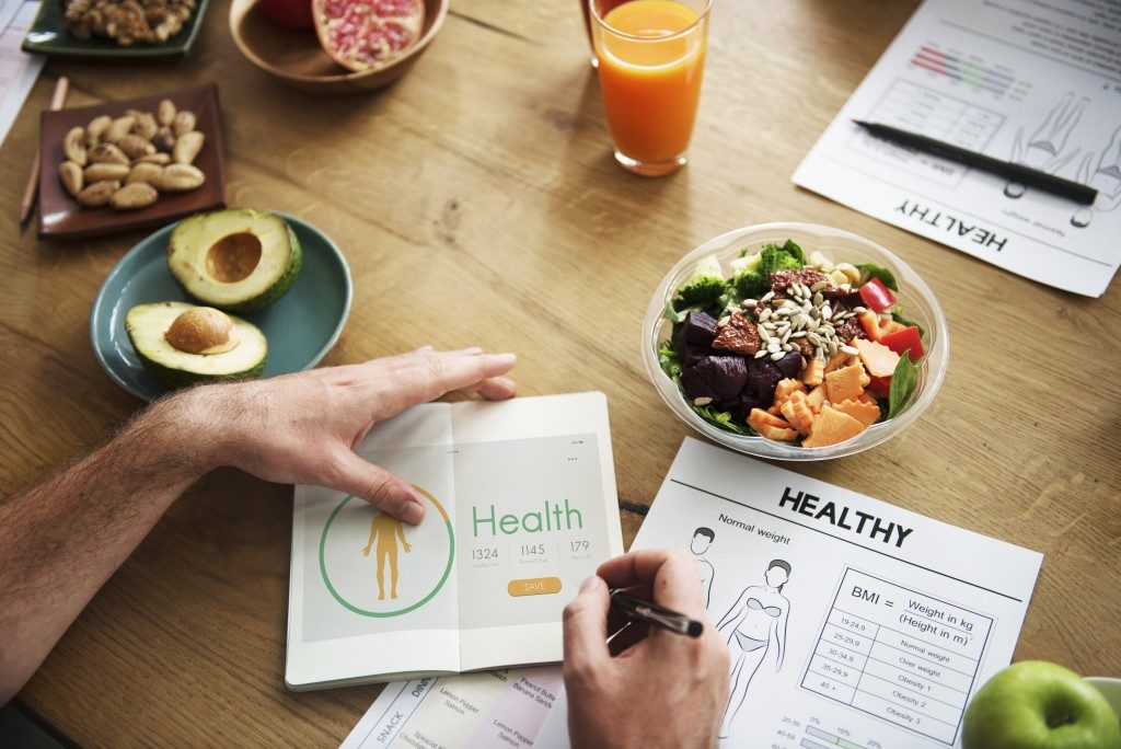 healthy food and planning