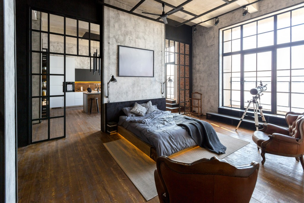 bedroom in modern interior