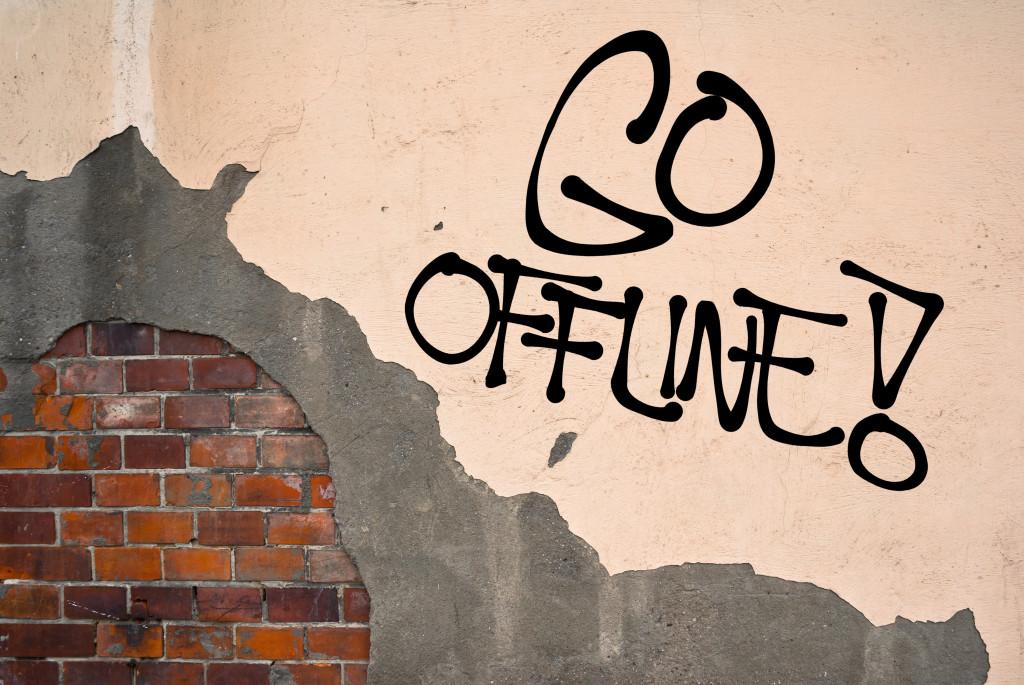 """""""go offline"""" graffiti"""